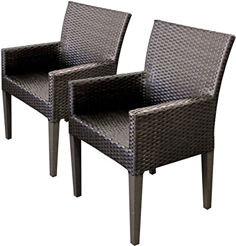 TK Classics 2 Piece Napa Dining Chairs with Arms, Espresso (Napa Furniture Patio)