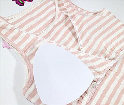 Nursing Maternity Gogofuture T Donne Elegante Righe Estivi L'allattamento shirt Allattamento Blu Camicetta Casual Canotta A Infermieristica Maniche Senza Tops Maglietta xxzrq8Bw