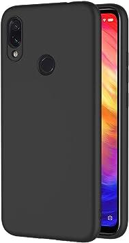 AICEK Funda Xiaomi Redmi Note 7, Negro Silicona Fundas para ...