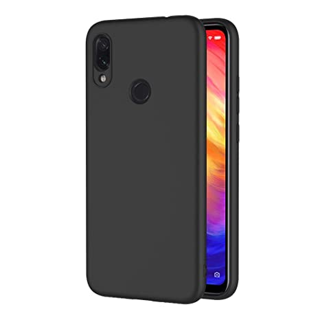 AICEK Funda Xiaomi Redmi Note 7, Negro Silicona Fundas para Redmi Note 7 Carcasa Xiaomi Redmi Note 7 Negro Silicona Funda Case (6,3 Pulgadas)