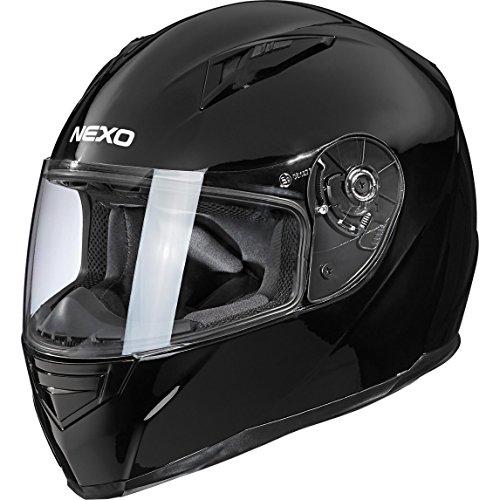 Nexo Integralhelm Motorradhelm Helm Motorrad Mopedhelm Basic II, herausnehmbares Komfortpolster, mehrfache Be…