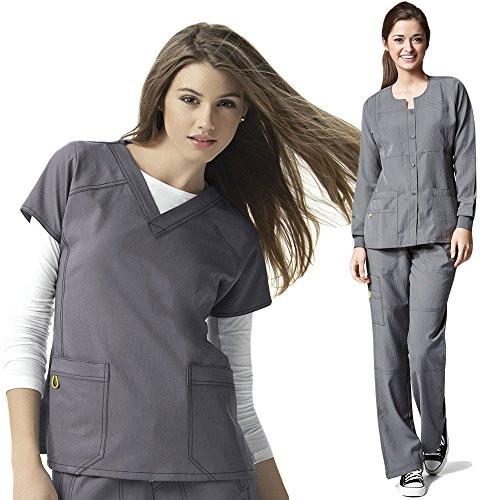 Four Stretch Wonderwink Womens Scrub Jacket