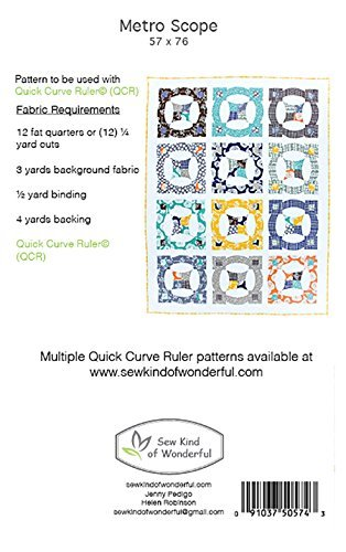 Metro Twist Quilt Pattern: A Contemporary Quilt Design Pattern Using the Quick Curve Ruler by Sew Kind of Wonderful / 0