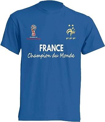 Amazon Com France Champion Du Monde Football Russie 2018 Winner T