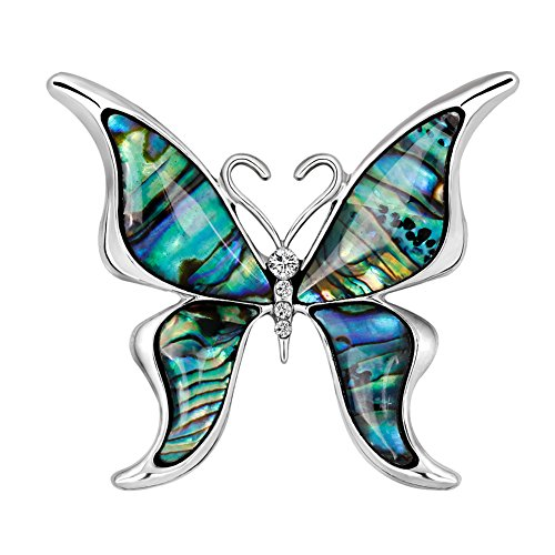 Brooch Dress Butterfly (lightclub Fashion Butterfly Women Collar Brooch Pin Hat Bag Dress Jewelry Badge Gifts Formal Clothes Butterfly)