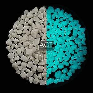 """AGT Aqua Blue 1/4"""" (8mm) Ultra Grade Glow Stones"""