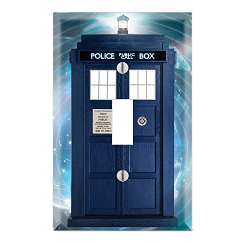 Single Toggle Wall Switch Cover Plate Decor Wallplate - Dr. Who ()