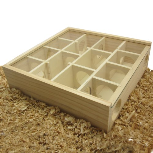 Alfie Pet - Small Animal Playground - Cohen Wooden Maze Toy for Small Animals Like Dwarf Hamster and Mouse