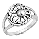 Sun Moon Universe Amazing Detail Ring New .925 Sterling Silver Band Sizes 5-10