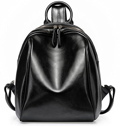 Cute Mini Leather Backpack For Women Purse Vintage Soft Genuine Leather Backpack Travel Shool Sling Bag ()