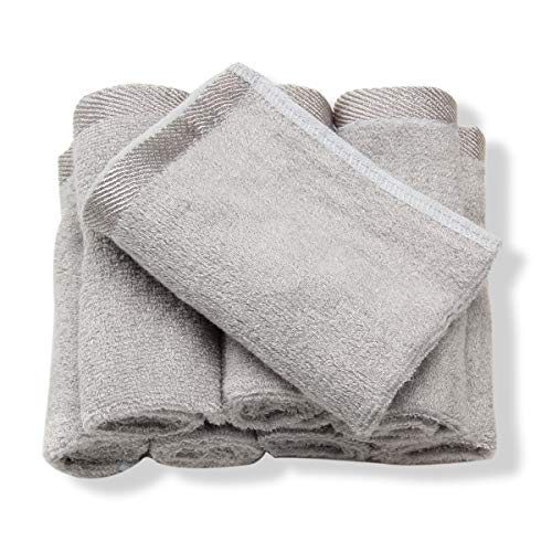 Bamboo Baby Washcloth Organic Soft Towel BlueWhite