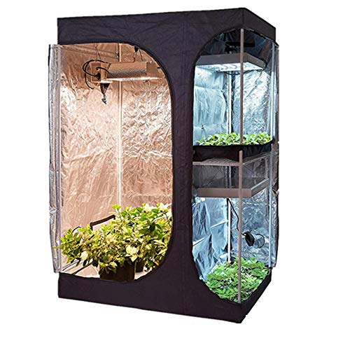 X&LFC 2-in-1 600D Indoor Grow Tent Room, Indoor Hydroponics Plants Growing Tent for Greenhouse, Reflective Mylar…