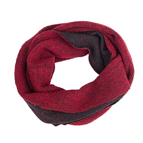 Soft Scarf, Circle Scarf, Head Scarf, Infinity Scarf, Loop, Snood, Hood, Neck, Reversible, Women, Men, Girl, Guys, Unisex, Wool, Red, Black, Charcoal, One size, Handmade in Florence, Italy