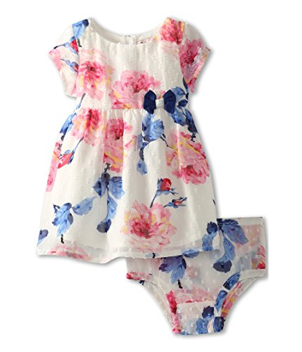 Juicy Couture Baby Baby-Girls Newborn Dress, Large Rose Print, 3-6 Months (Girl Party Juicy Couture)