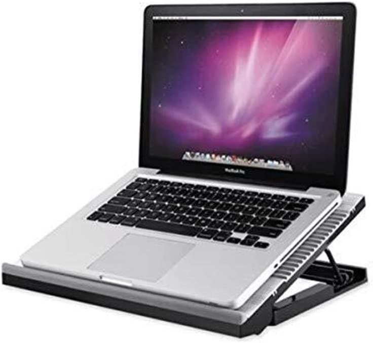 Compatible with 15.6-inch Notebook,Mute Metal Base Cooling Pad Heat Sink Color : Silver EXTR ANT Notebook Cooler