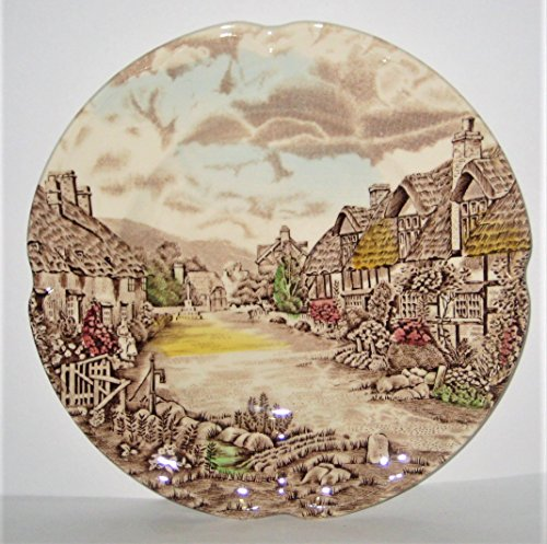 Vintage Olde English Country Side Johnson Brothers Ironstone 6 1/4 Inch Bread Plates, Set of (Ironstone Bread Plate)