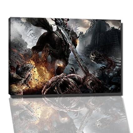 Darksiders - cuadro sobre lienzo - 60 x 40 cm enmarcado de ...