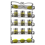 3S 5 Tier Wall Mounted Spice Rack Storage Organizer