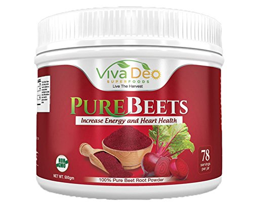 Price comparison product image PureBeets | 100% Organic Pure Beet Root Powder | Best Value Beetroot Nitric Oxide Supplement | Beets Support Faster Recovery & Total Body Health - Viva Deo (17.5 oz, 78 Servings)
