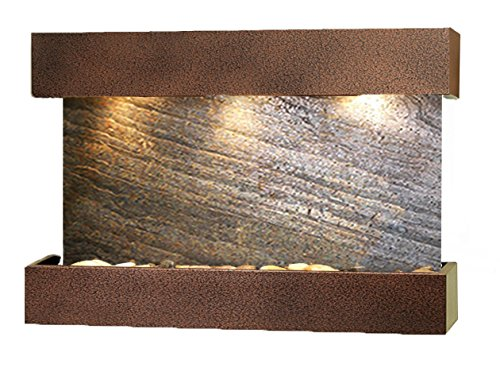 - Reflection Creek Water Feature with Copper Vein Trim and Square Edges (Green FeatherStone)