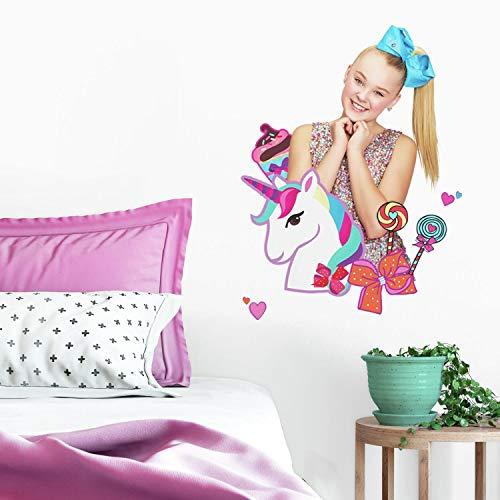 RoomMates Jojo Siwa Unicorn Dream Peel And Stick Giant Wall Decals by Nickelodeon (Image #2)