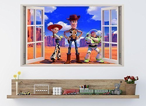 TOY STORY Buzz Woody 3D Window Effect Vinyl Wall Art Sticker *GIANT SIZE*  100 Part 58