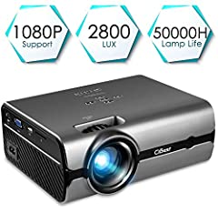 The mini video projector, Support 1080P HDMI USB SD Card VGA AV for Home Cinema TV Laptop Game iPhone Android Smartphone, provides you with an amazing home viewing experience.We provide competitive quality video projectors at very reasonable ...