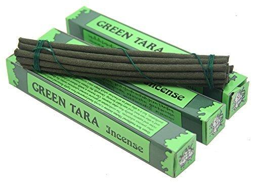 - DharmaObjects 3 Box Tibetan GREEN TARA Incense 5.5