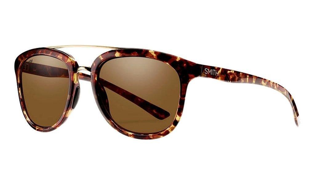 Smith Optics Adult Clayton Polarized Lifestyle Sunglasses Yellow Tortoise/Brown Lenses