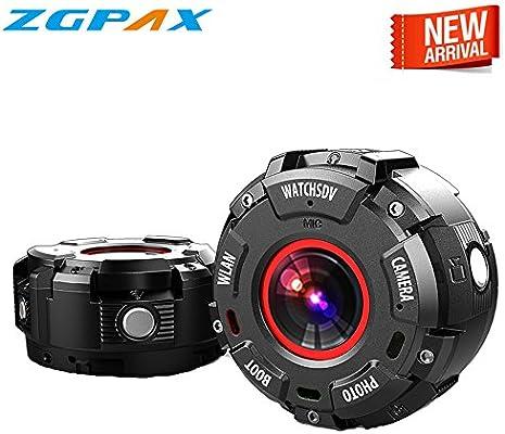 Amazon.com: zgpax S222 °Cámara deportiva IP68 impermeable ...