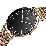 Men's Quartz Watch,KESONA Business Ultra Thin Waterproof Watch Stainless Steel Strap and Sapphire Glass