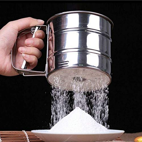 Kitchenware Colander - Sifters & Shakers - Stainless Steel Sieve Cup Powder Flour Pastry Baking Home Garden Dining Bake Ware Cake - Tablecloth Muffin Metal Flour Sifter Kitchenware Powder Colander Tool Bake Ga