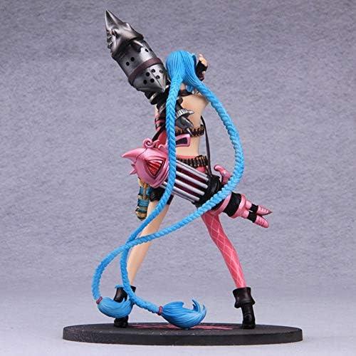 Figuur van League of Legends, figuur van Jinx, weggelopen loli rond modelornamenten, kleur