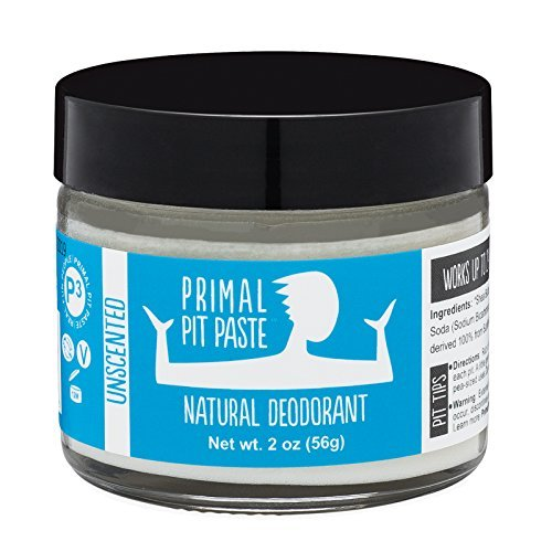 PRIMAL PIT PASTE All Natural Unscented Deodorant | 2 Ounce J