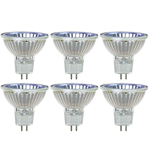 Sunlite 50MR16/CG/FL/120V/6PK Halogen 50W 120V MR16 Flood Light Bulbs