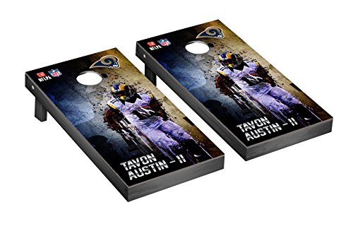 NFL Los Angeles Rams PA Corn hole Game Set Tavon Austin 11 Version PA Corn hole Game Set, One Size by Victory Tailgate