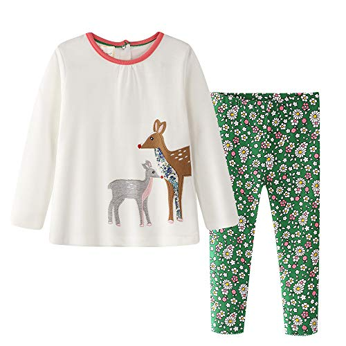 Cute Halloween Clothing - Toddler Baby Girls Clothing Set Cute Print Long Sleeve T Shirt and Pants 2pcs Outfits Set