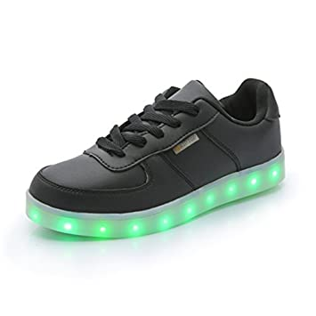 L'arrivée de nouveaux 7 Couleur rechargeables Chaussures Sport LED clignotantes Sneakers qtVSTi0