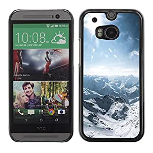 LECELL -- Funda protectora / Cubierta / Piel For HTC One M8 -- Nature Snowy Mountain --