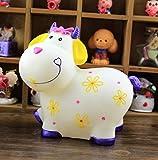 Large Cartoon Cow Sheep Piggy Bank Coin Still Savings Pot Toy Cash Safe Money Box Saving Bank Cute