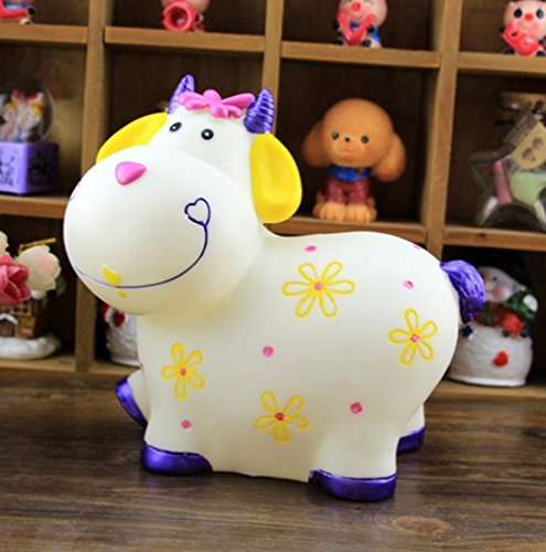 Large Cartoon Cow Sheep Piggy Bank Coin Still Savings Pot Toy Cash Safe Money Box Saving Bank Cute