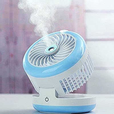 YOUDirect Mini Misting Fan Table Desk Cooling Personal Fan Portable Light-Weight USB Rechargeable Mini Humidifier