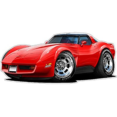 1980-82 Corvette Wall Decal Vintage 3D Car Movable Stickers Vinyl Wall Stickers for Kids Room: Baby [5Bkhe0400134]