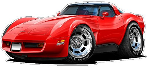 1980-82 Corvette WALL DECAL Vintage 3D Car Movable Stickers Vinyl Wall Stickers for Kids Room
