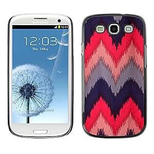 Caucho caso de Shell duro de la cubierta de accesorios de protección BY RAYDREAMMM - Samsung Galaxy S3 I9300 - Quilted Crocheted Fabric Design