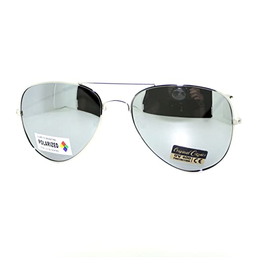 Amazon.com  Air Force Polarized Silver Mirror Lens Police Style Cop ... 242ce0b96d3