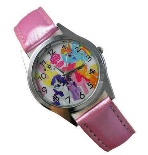 My Little Pony Girl Pink Watch Disney Kids Leather Band