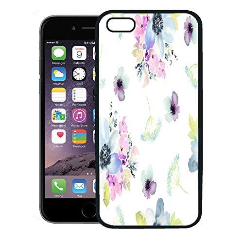 Semtomn Phone Case for iPhone 8 Plus case,Pink Floral Flowers Watercolor Gentle Colors Female Pattern Pastel Vintage iPhone 7 Plus case - Innocence Bouquet