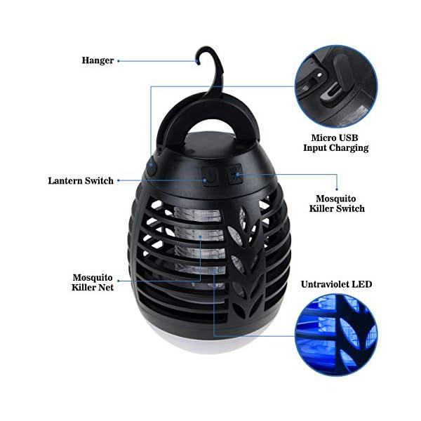 ROVLAK Zanzariera Elettrica Esterno 2-in-1 Lampada Antizanzare USB + Lanterna da Campeggio Ricaricabile Anti-zanzara… 6 spesavip
