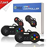 kiwitatá Super SNES USB Gamepad, Classic Controller To USB for Mac PC Controllers (Pack of 2)